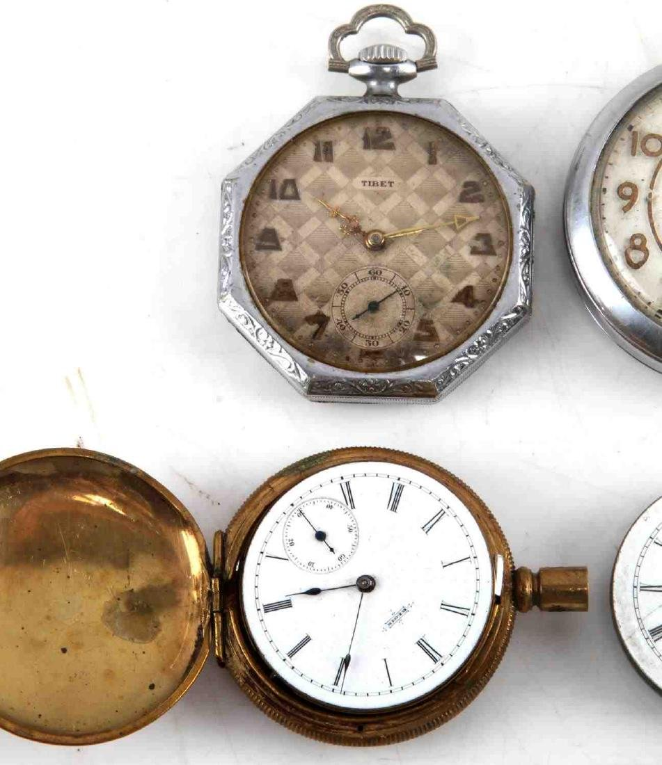 ANTIQUE AND VINTAGE MEN AND WOMEN POCKET WATCH LOT - 2