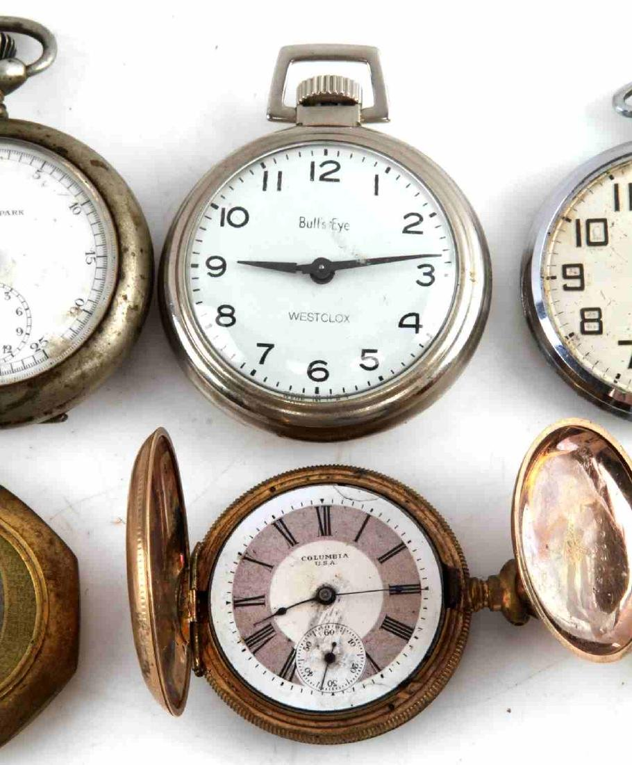 ANTIQUE AND VINTAGE MEN AND WOMEN POCKET WATCH LOT - 5