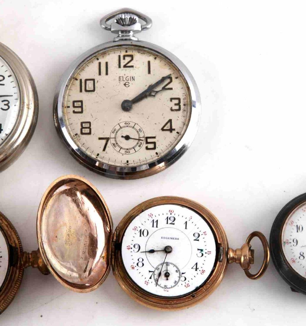 ANTIQUE AND VINTAGE MEN AND WOMEN POCKET WATCH LOT - 6