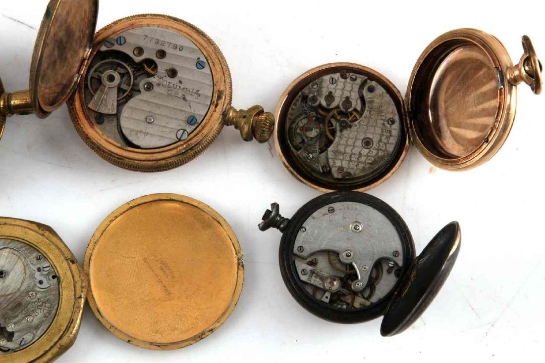 ANTIQUE AND VINTAGE MEN AND WOMEN POCKET WATCH LOT - 9
