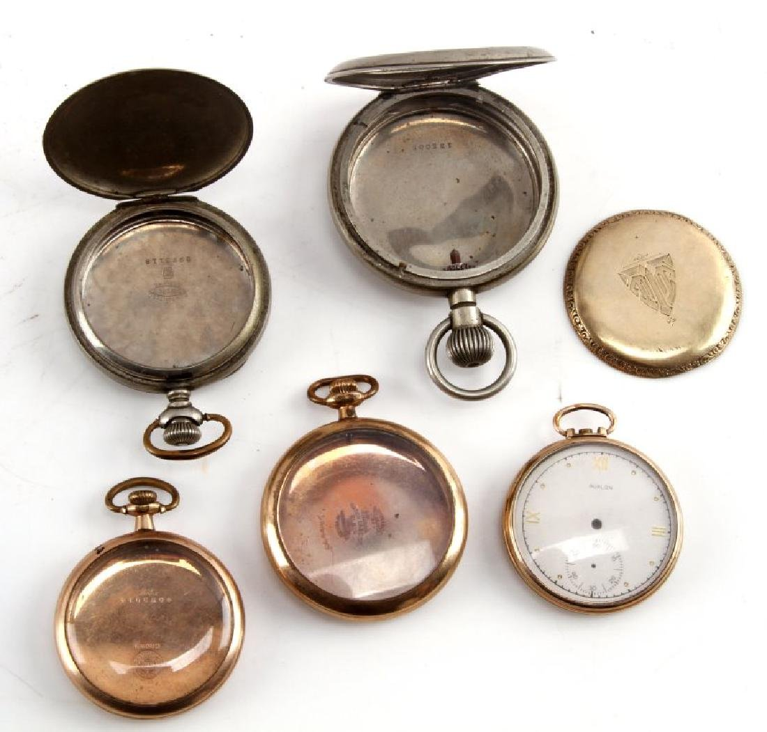 LOT OF 5 VINTAGE TO ANTIQUE POCKET WATCH CASING