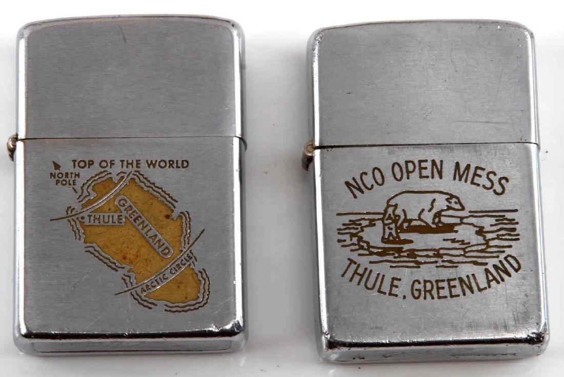 VIETNAM ERA GREENLAND THULE AIR FORCE ZIPPO LOT  2 - 2