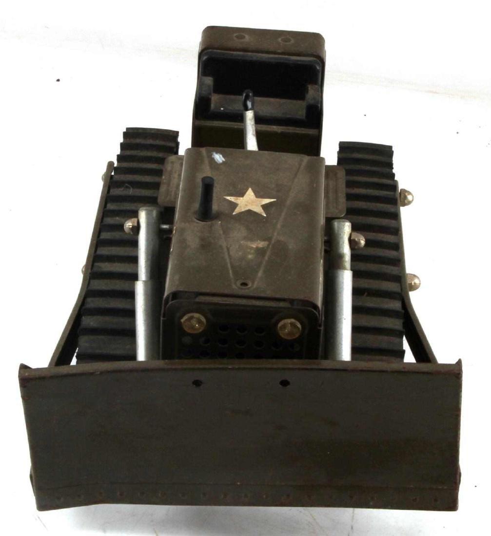 VINTAGE DIE CAST TONKA WWII US ARMY BULLDOZER - 2