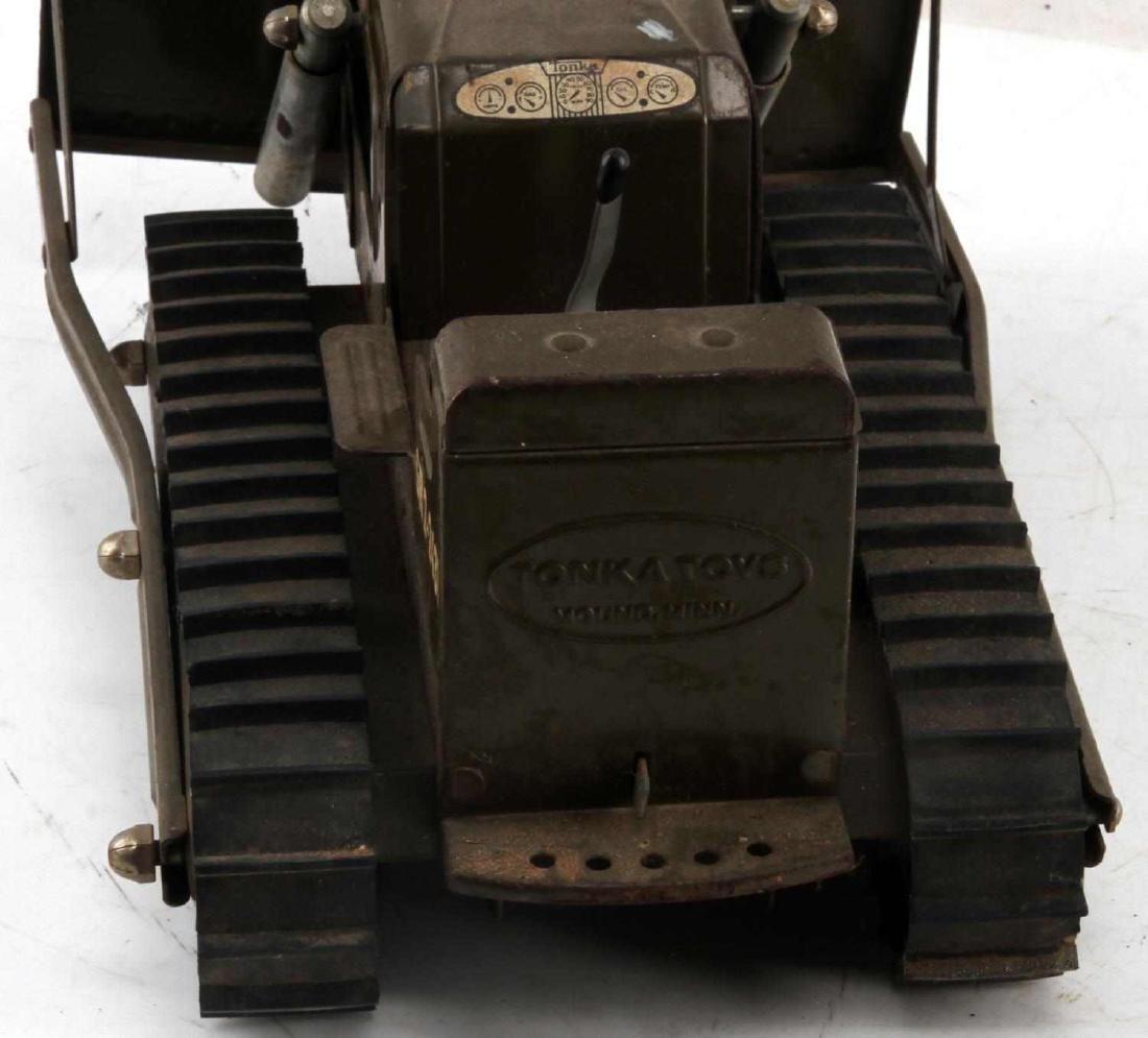VINTAGE DIE CAST TONKA WWII US ARMY BULLDOZER - 4