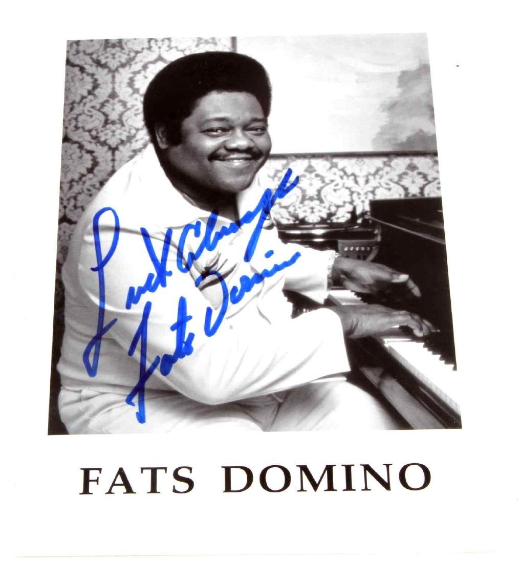 SINGER-SONGWRITER FATS DOMINO AUTOGRAPHED PHOTO