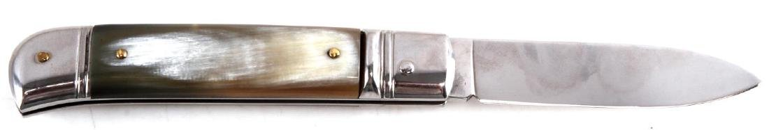 AKC ITALIAN LEVER LOCK HONEY HORN AUTOMATIC KNIFE - 3