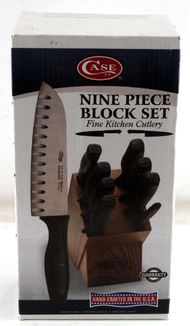 CASE 9 PIECE BLOCK SET FINE KITCHEN CUTLERY 803924