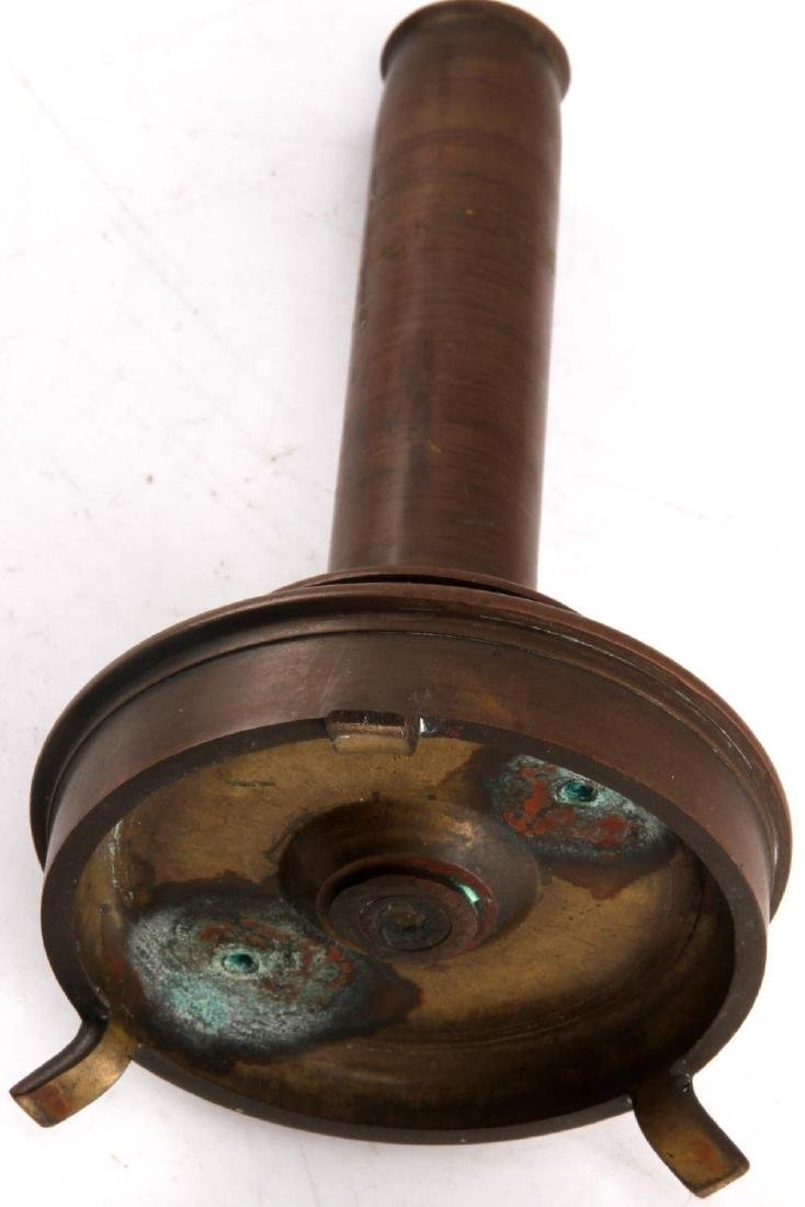 WWII TRENCH ART CANDLE HOLDER 75 MM M5 SHELL 1941 - 4