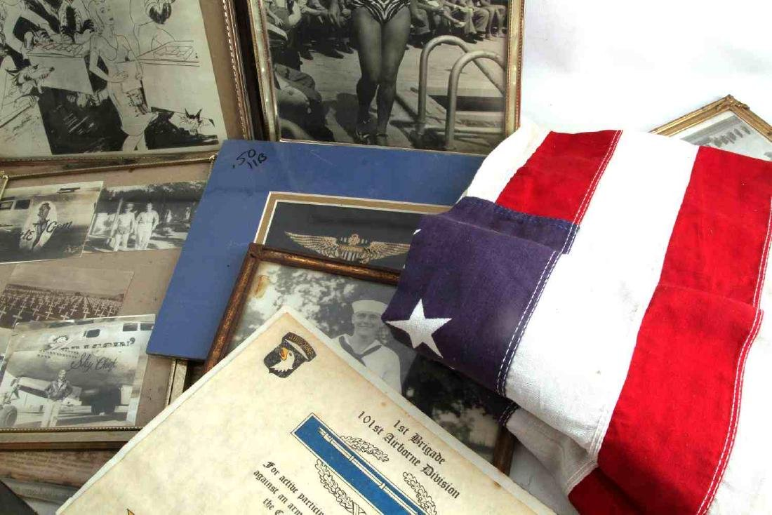 LARGE WWII & LATER GENERAL  MILITARIA  & FLAG LOT - 6