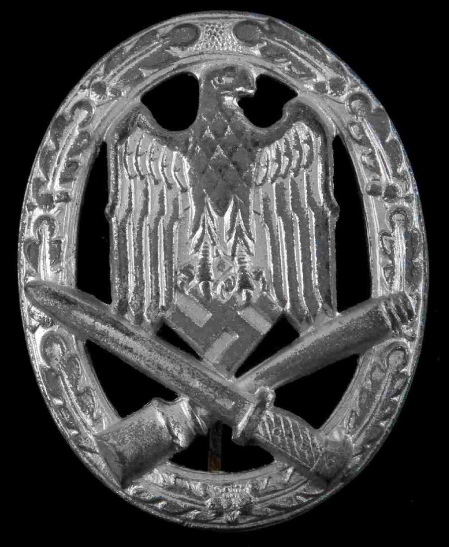 WWII GERMAN THIRD REICH GENERAL ASSAULT BADGE