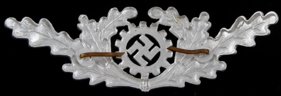WWII GERMAN 3RD REICH DAF OFFICER VISOR CAP BADGE - 2