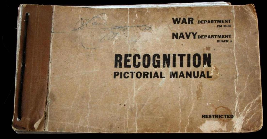 US WAR DEPARTMENT RECOGNITION PICTORIAL MANUAL