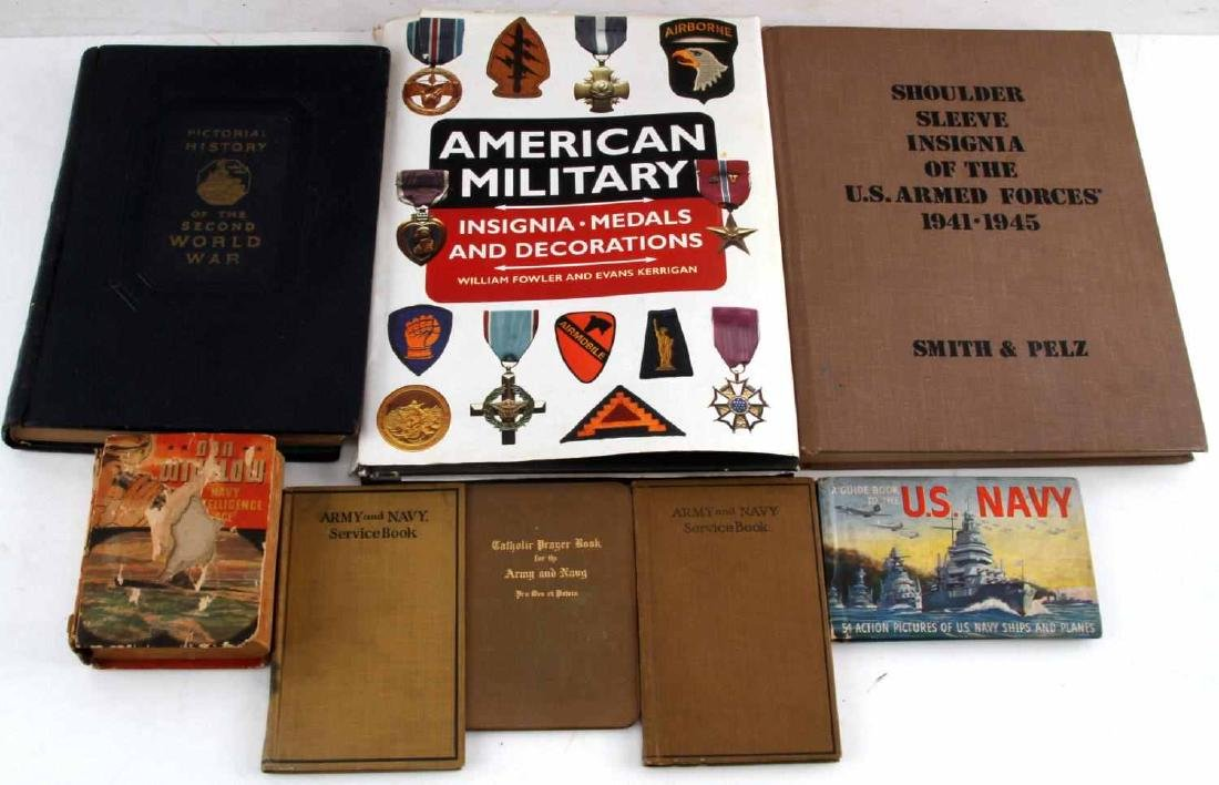 US MILITARY WWII ARMED FORCES BOOK LOT