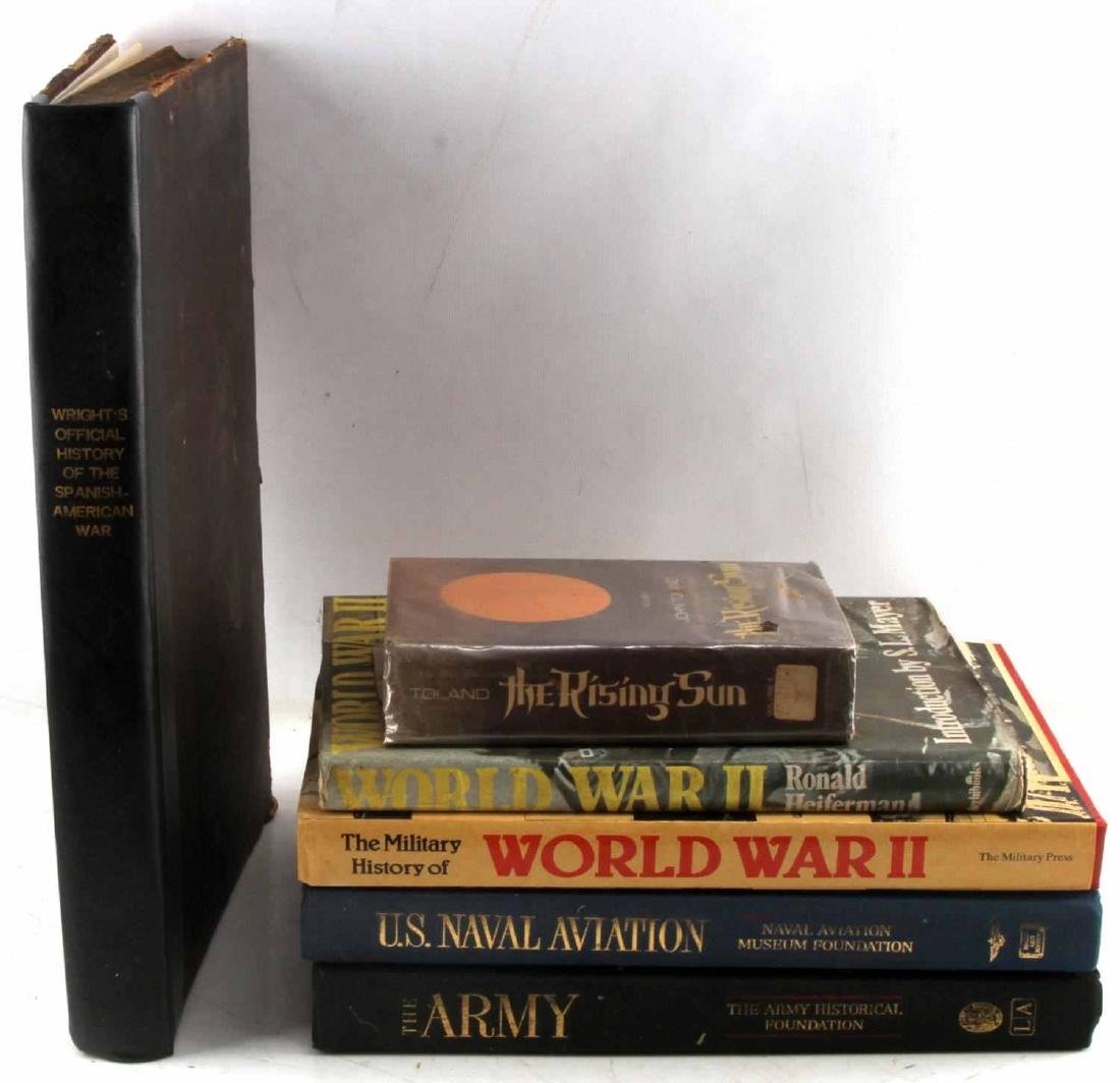 MILITARY BOOK LOT SPANISH AMERICAN WAR TO WWII