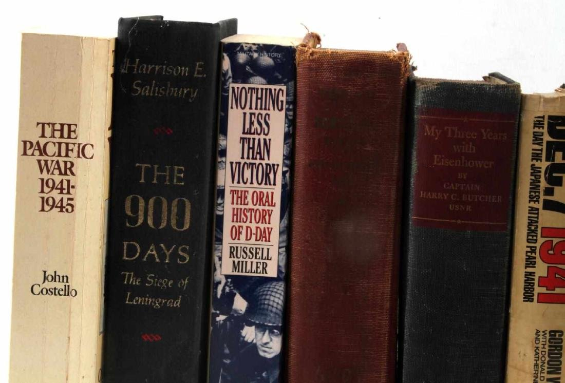 LOT OF 10 VINTAGE WWII MILITARY & WAR BOOKS - 3