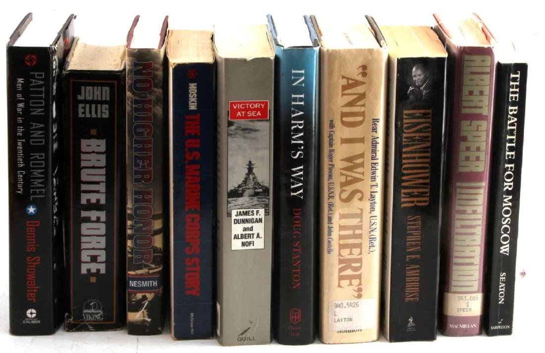 GROUPING OF 10 MILITARY & OTHER HISTORICAL BOOKS