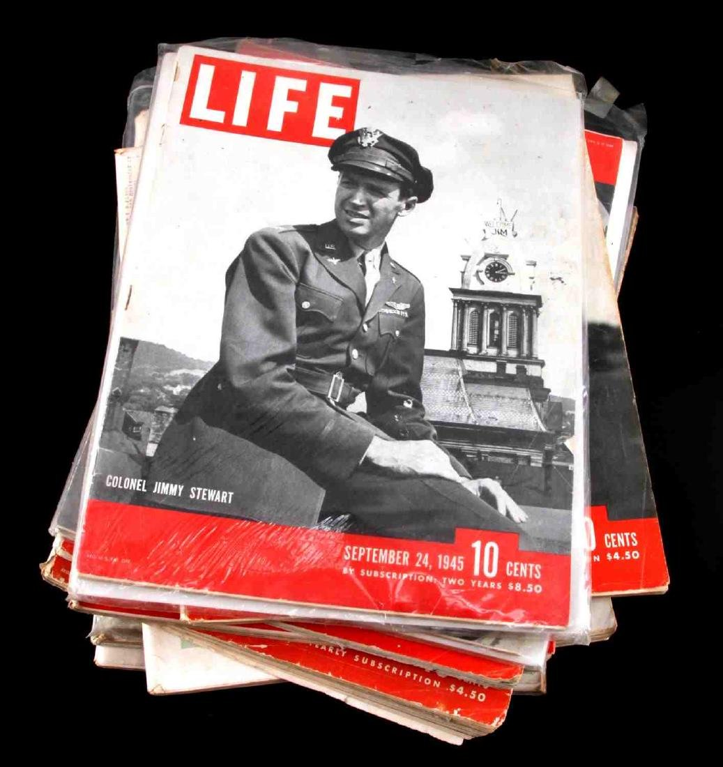 WWII ISSUE LIFE MAGAZINE COLLECTION OF TWELVE