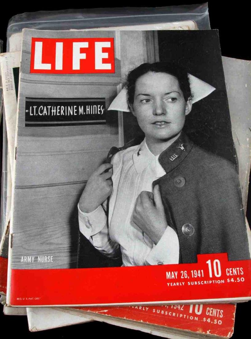 WWII ISSUE LIFE MAGAZINE COLLECTION OF TWELVE - 3