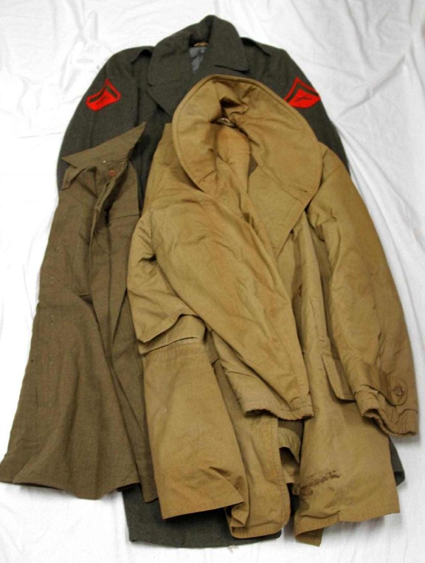 LOT OF WWII & LATER MILITARY UNIFORM & CLOTHING - 5