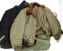 US MILITARY WWII AND LATER UNIFORM & CLOTHING LOT