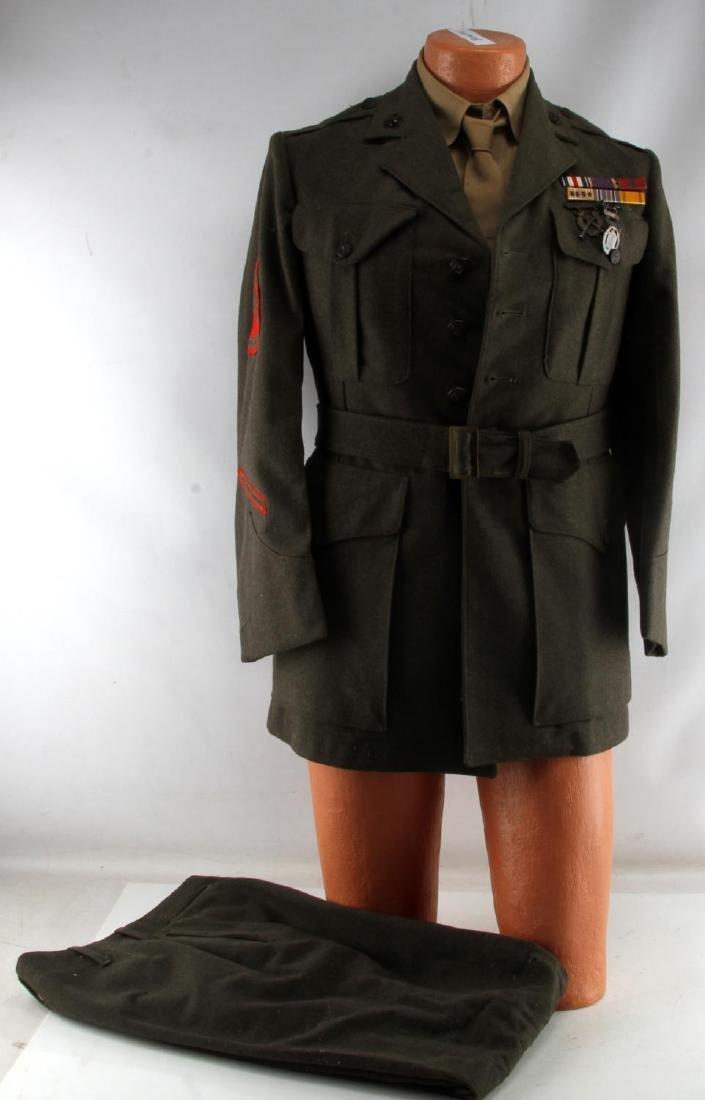 US MARINE CORPS STAFF SERGEANT WWII UNIFORM