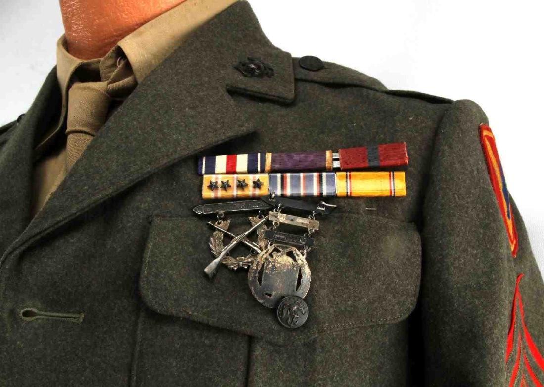 US MARINE CORPS STAFF SERGEANT WWII UNIFORM - 2