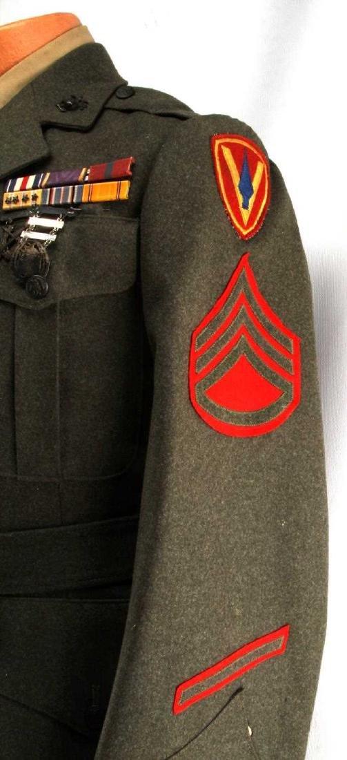 US MARINE CORPS STAFF SERGEANT WWII UNIFORM - 3