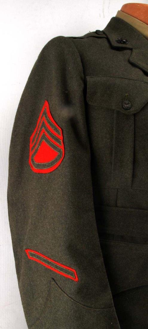 US MARINE CORPS STAFF SERGEANT WWII UNIFORM - 4