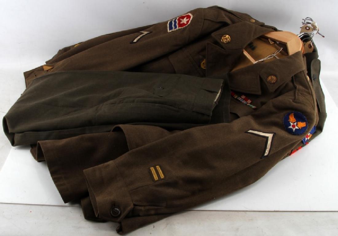 WWII U.S ARMY & MARINE CORP UNIFORM LOT IKE JACKET