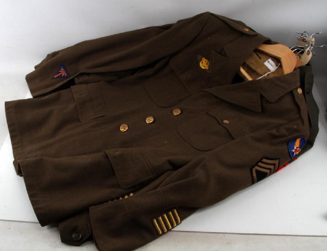 WWII U.S ARMY & MARINE CORP UNIFORM LOT IKE JACKET - 3