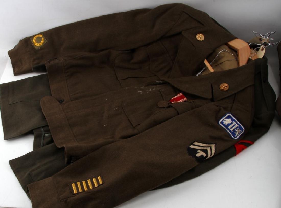 WWII U.S ARMY & MARINE CORP UNIFORM LOT IKE JACKET - 4