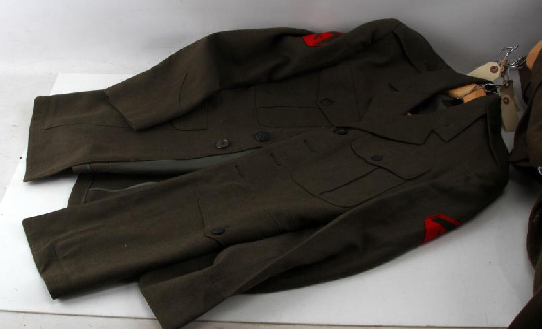 WWII U.S ARMY & MARINE CORP UNIFORM LOT IKE JACKET - 5