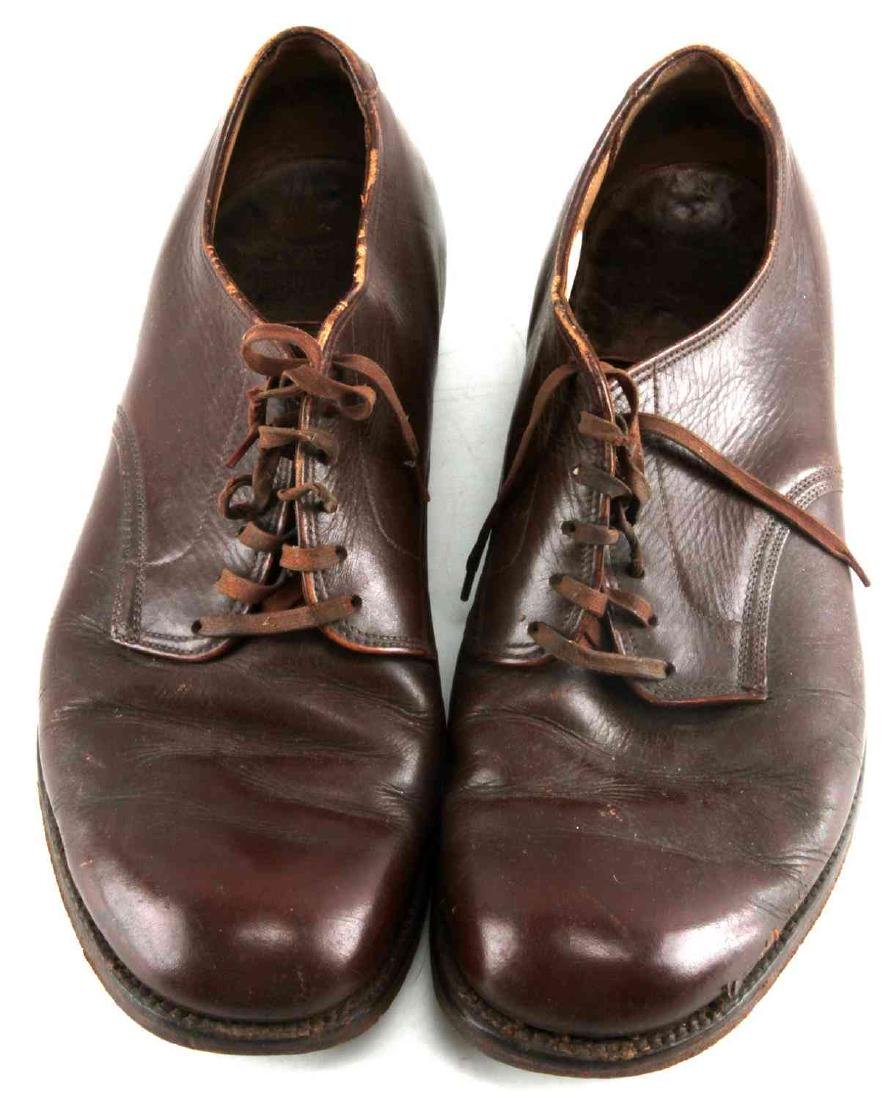 WWII OFFICER BROWN UNIFORM SHOES