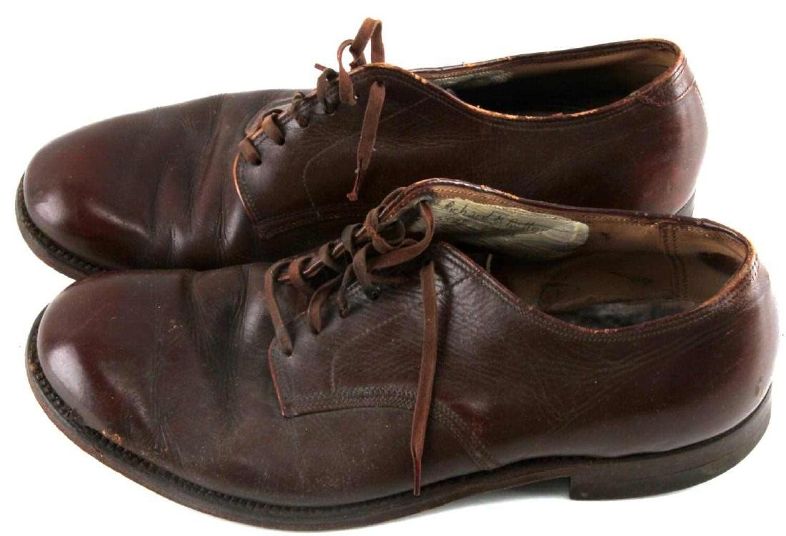 WWII OFFICER BROWN UNIFORM SHOES - 2