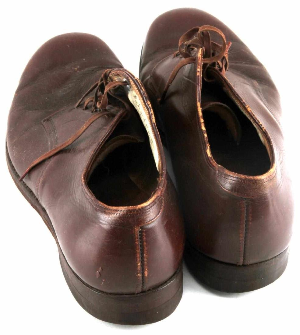 WWII OFFICER BROWN UNIFORM SHOES - 5