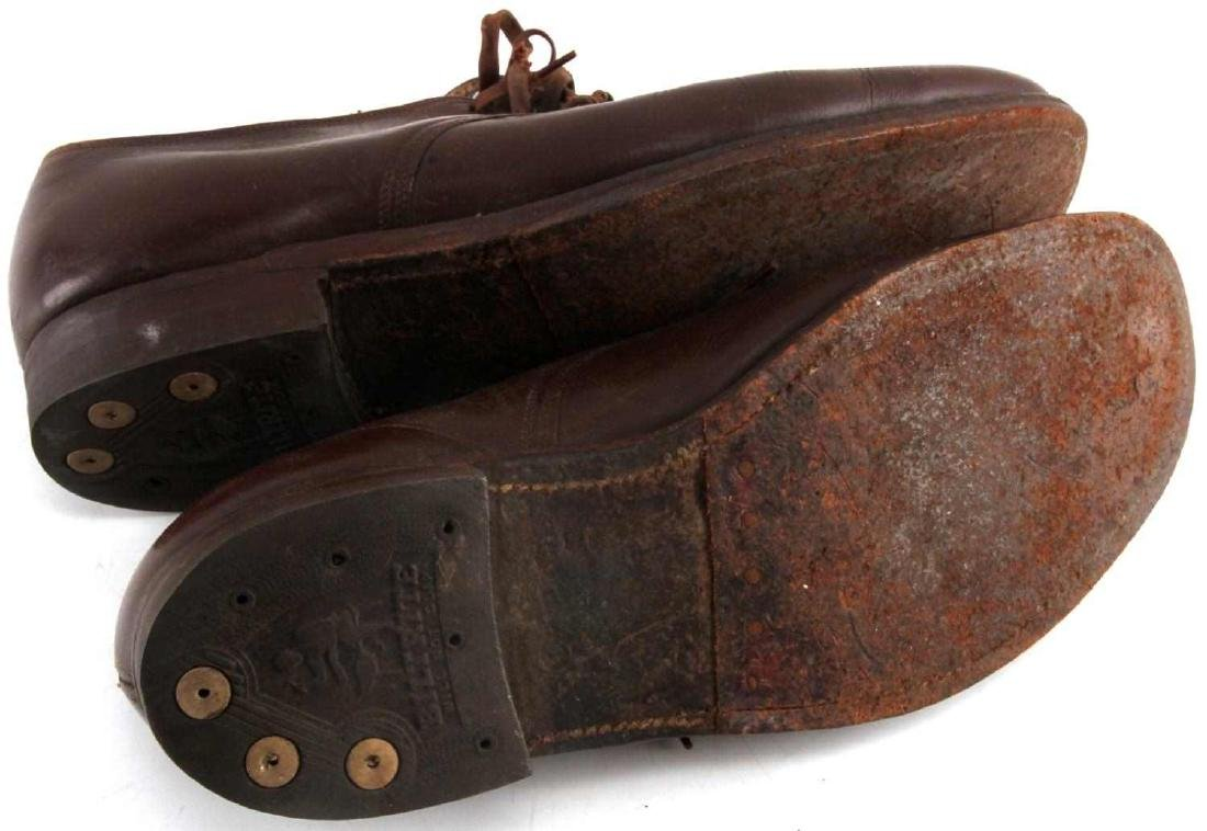 WWII OFFICER BROWN UNIFORM SHOES - 6