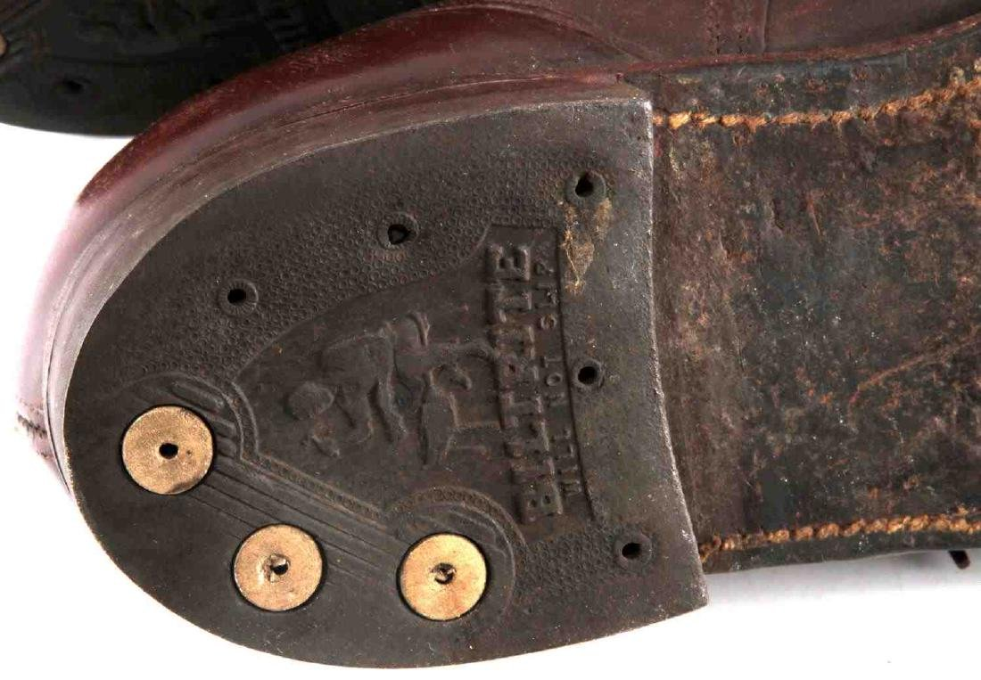 WWII OFFICER BROWN UNIFORM SHOES - 7