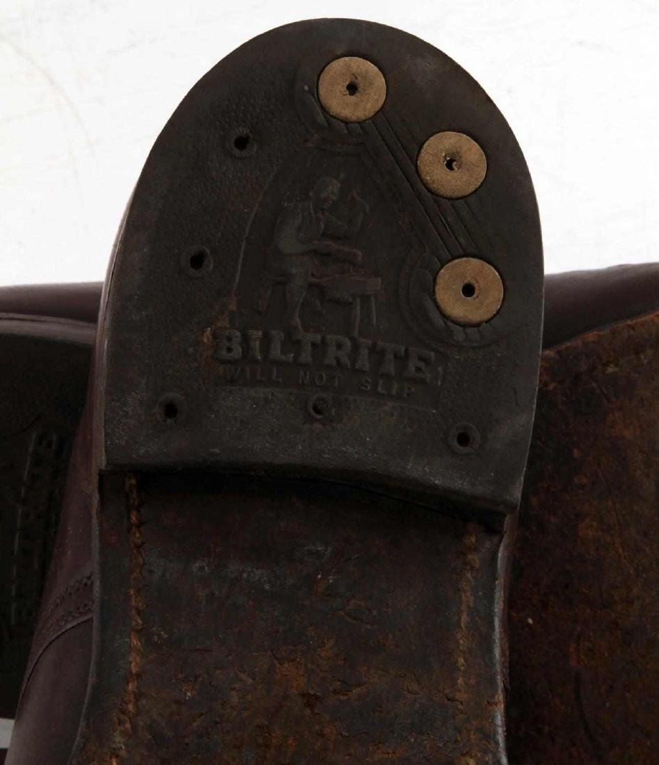 WWII OFFICER BROWN UNIFORM SHOES - 8