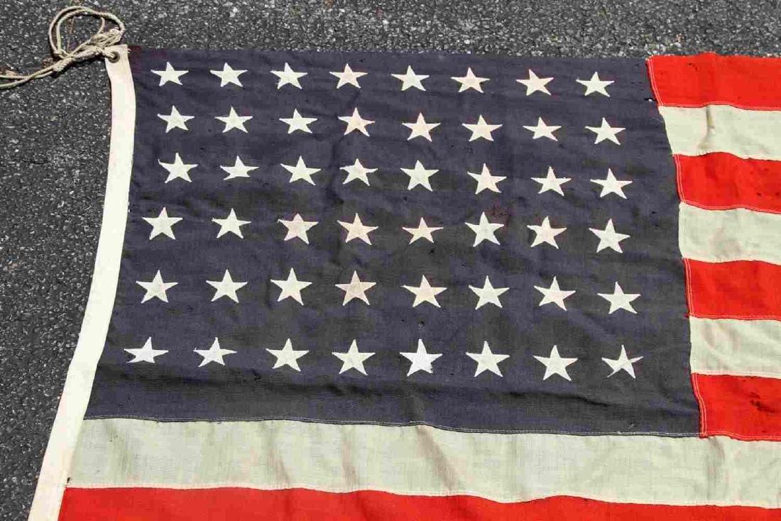 LARGE WOOL US 48 STAR BATTLE FLAG - 2