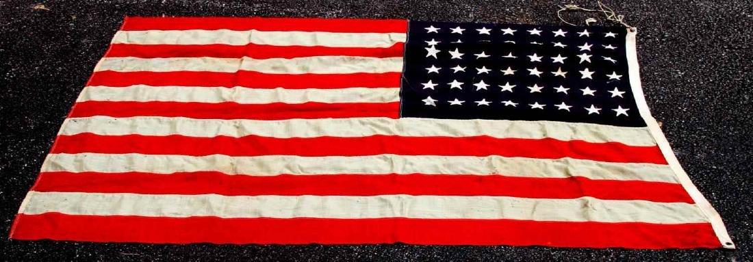 LARGE WOOL US 48 STAR BATTLE FLAG - 3