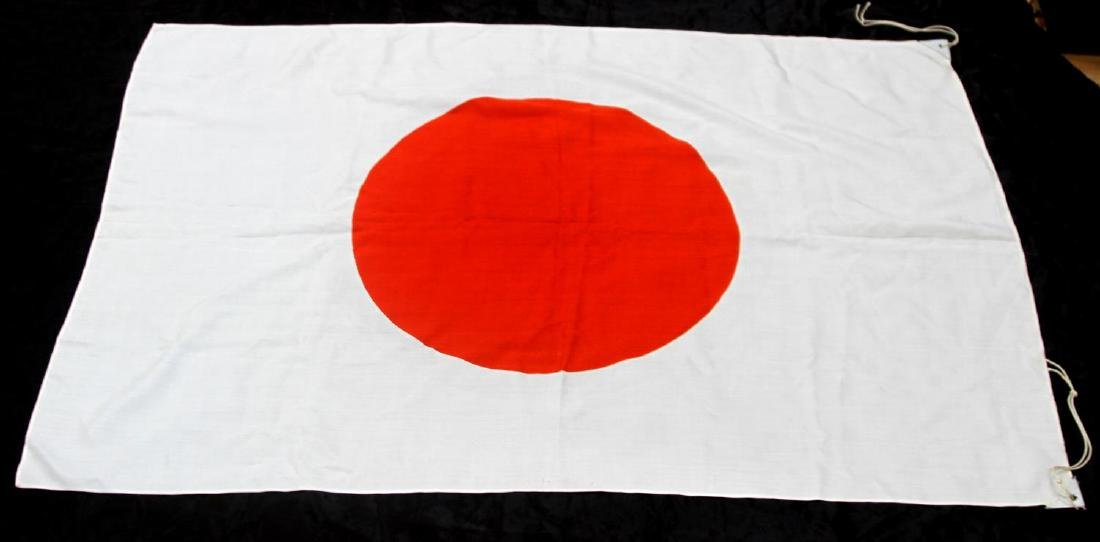WWII IMPERIAL JAPANESE RISING SUN MEATBALL FLAG - 3