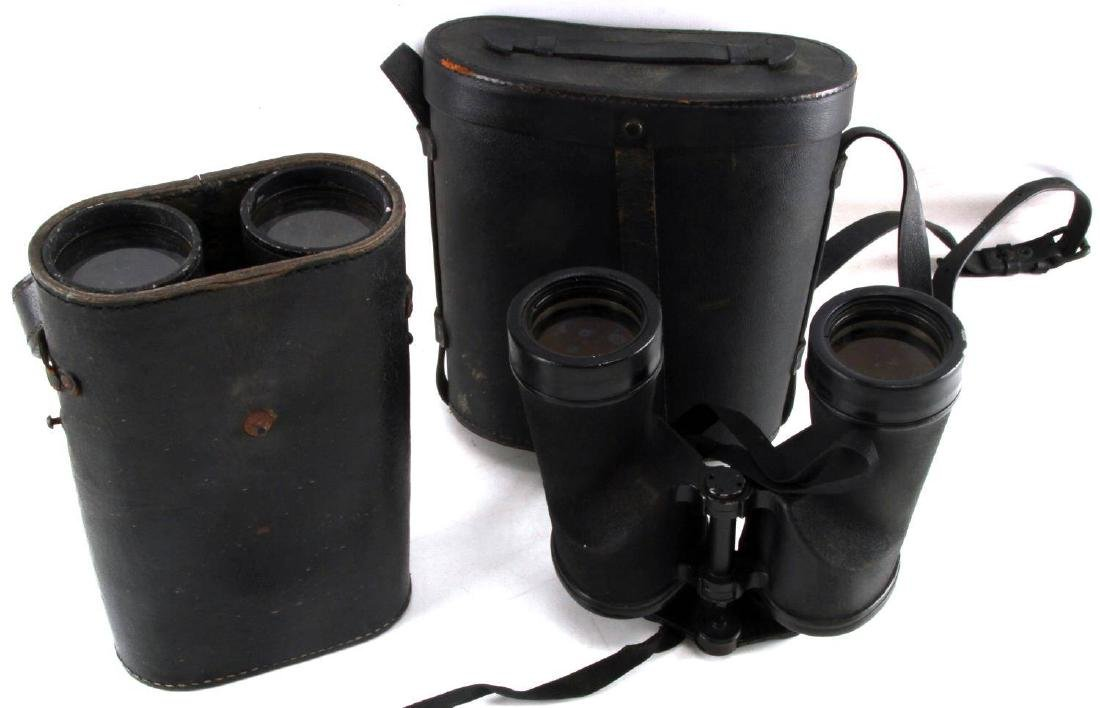 WWII US NAVY AND GERMAN ARMY BINOCULAR LOT OF TWO