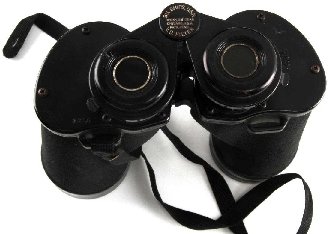 WWII US NAVY AND GERMAN ARMY BINOCULAR LOT OF TWO - 3