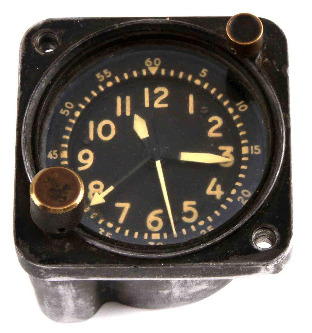 US MILITARY AIR FORCE MECHANICAL WALTHAM CLOCK