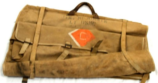 WWII US MARINE CORPS OFFICER CANVAS GARMENT BAG