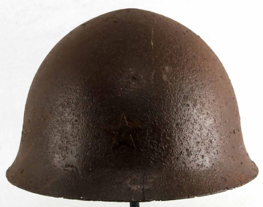 WWII BATTLEFIELD FOUND JAPANESE HELMET RELIC