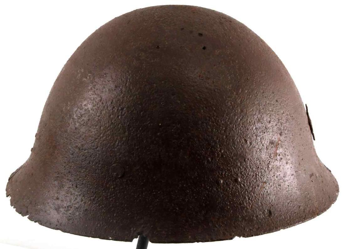 WWII BATTLEFIELD FOUND JAPANESE HELMET RELIC - 3