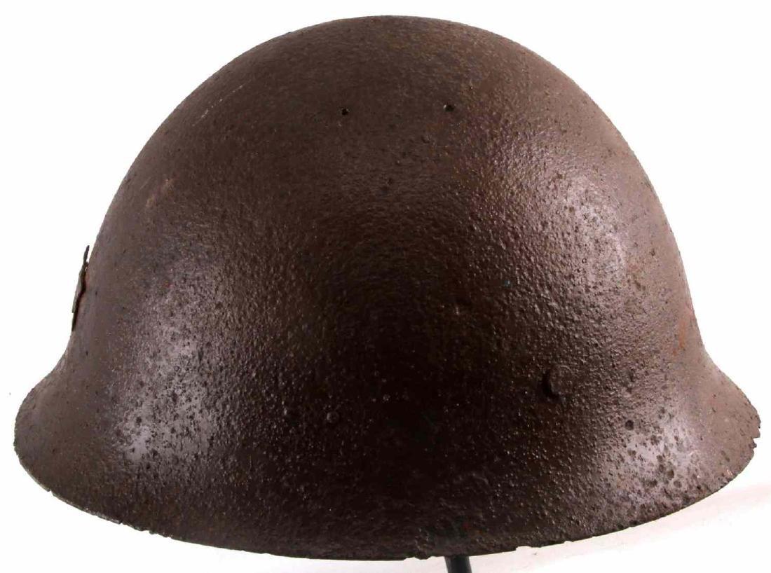 WWII BATTLEFIELD FOUND JAPANESE HELMET RELIC - 5