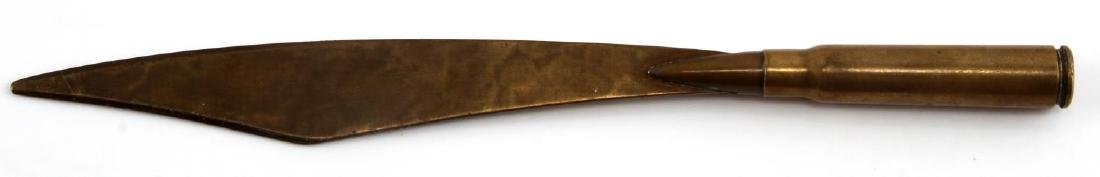 WWII RIFLE ROUND MADE TRENCH ART ENVELOPE OPENER