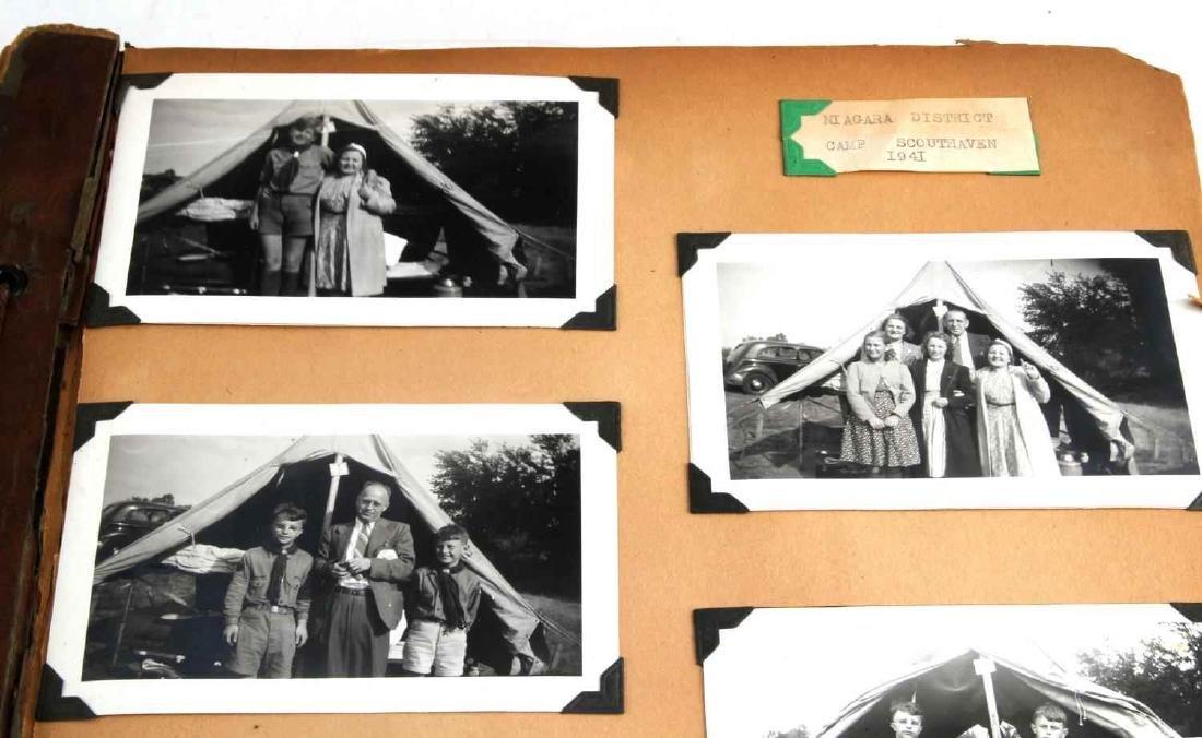 ANTIQUE US BOY SCOUT SCRAP BOOK WITH B&W PHOTOS - 2